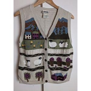 Vintage Northern Reflections Knit Vest Size L